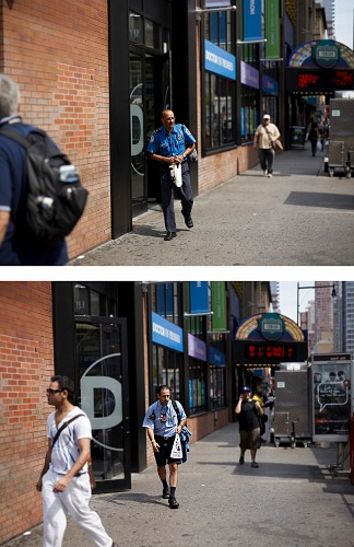 Paul Graham, 8th Avenue & 42nd Street, 17th August 2010, 11.23.03 am, from the  The Present series, 2010.