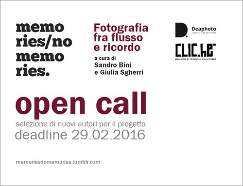 """Memories/No Memories"": open call"