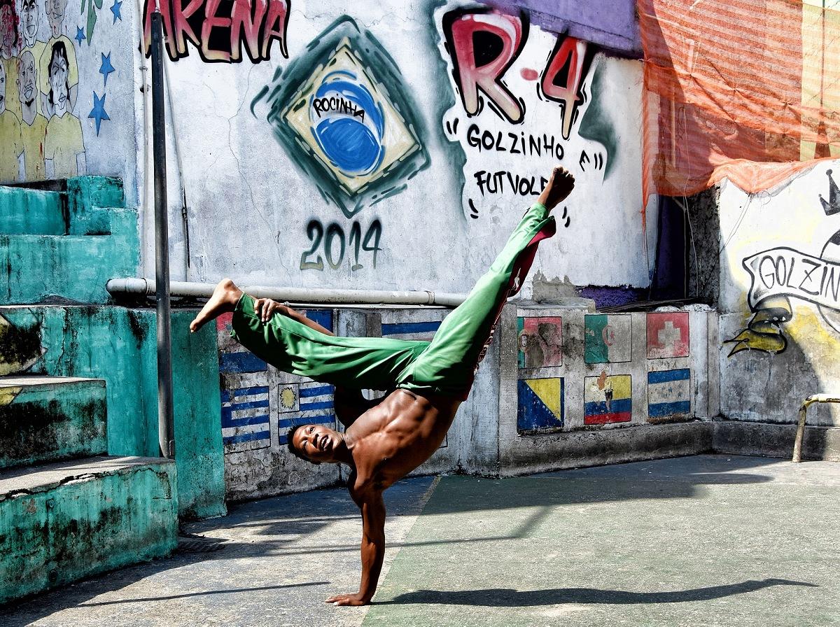 Capoeira, Favela Rocinha, Rio de Janeiro, Brasile. © Franco Cappellari.