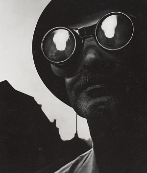 W. Eugene Smith, Steelworker with Goggles, Pittsburgh, 1955. � The Heirs of W. Eugene Smith.