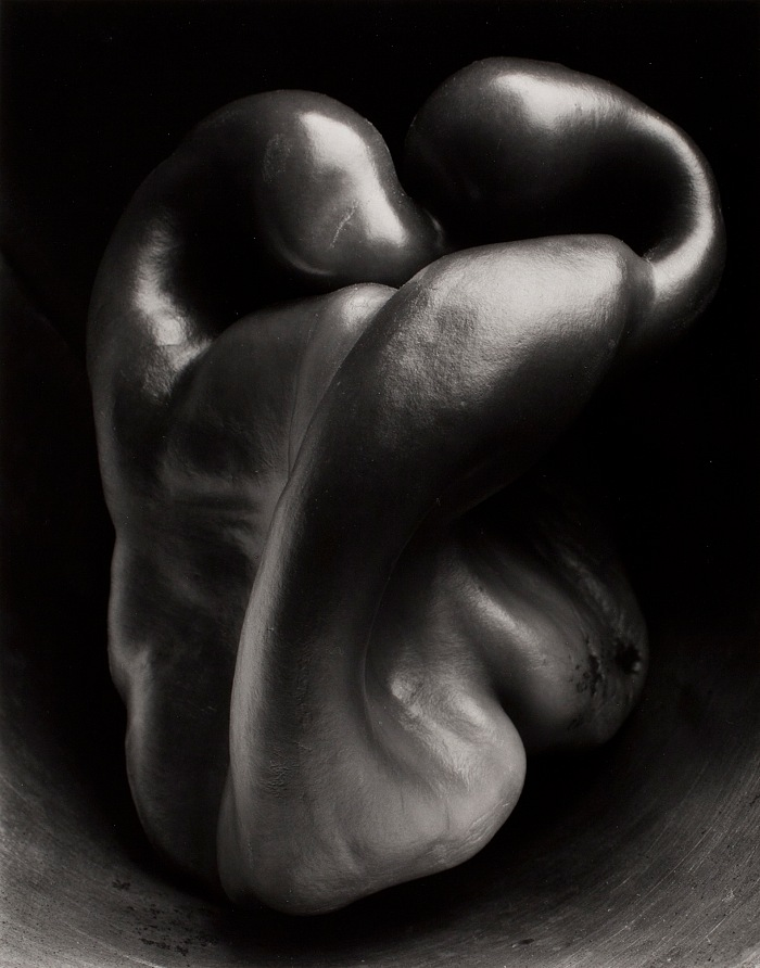 Edward Weston, Pepper, 30P, 1930. Stampa alla gelatina d'argento, 23,5x19cm. © 1981 Center for Creative Photography, Arizona Board of Regents