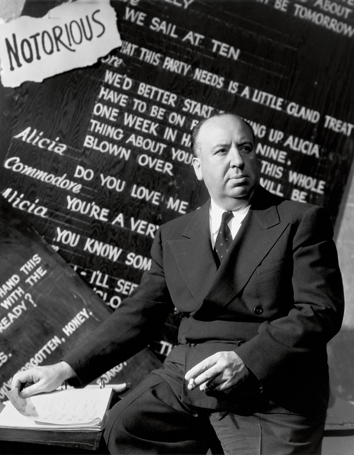 Director Alfred Hitchcock by Ernest Bachrach for Notorious, 1946. RKO © John Kobal Foundation.