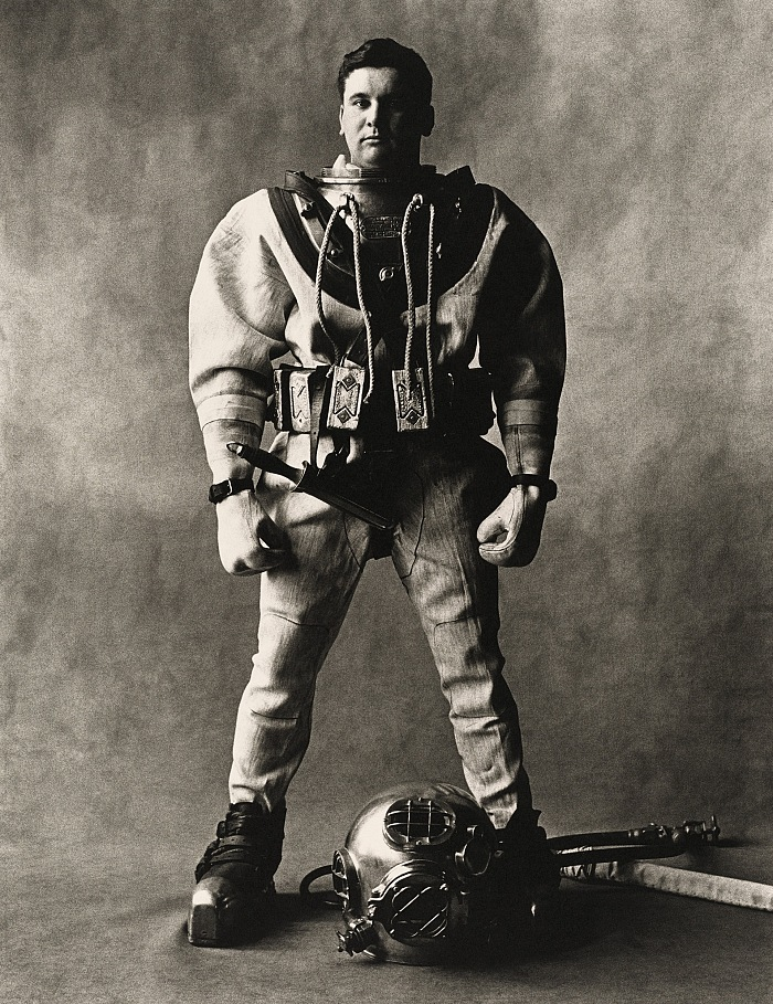 Irving Penn, Deep-Sea Diver (C), New York, 1951. © Condé Nast