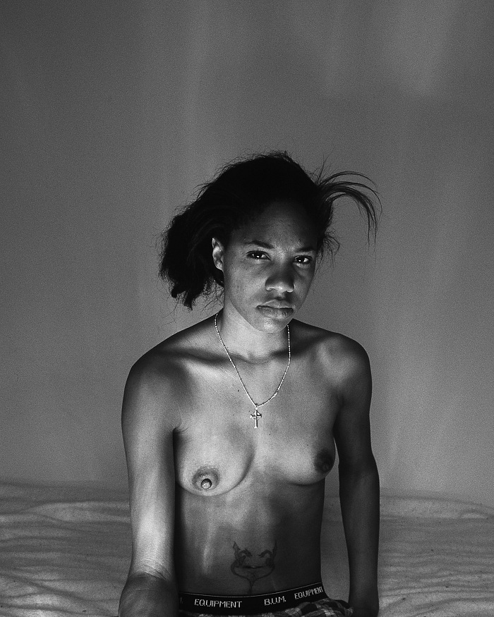 LaToya Ruby Frazier, Self portrait Oct. 7th (9.30am), 2008. Gelatin silver print. Courtesy The Artist and Gavin Brown's enterprise, New York/Rome