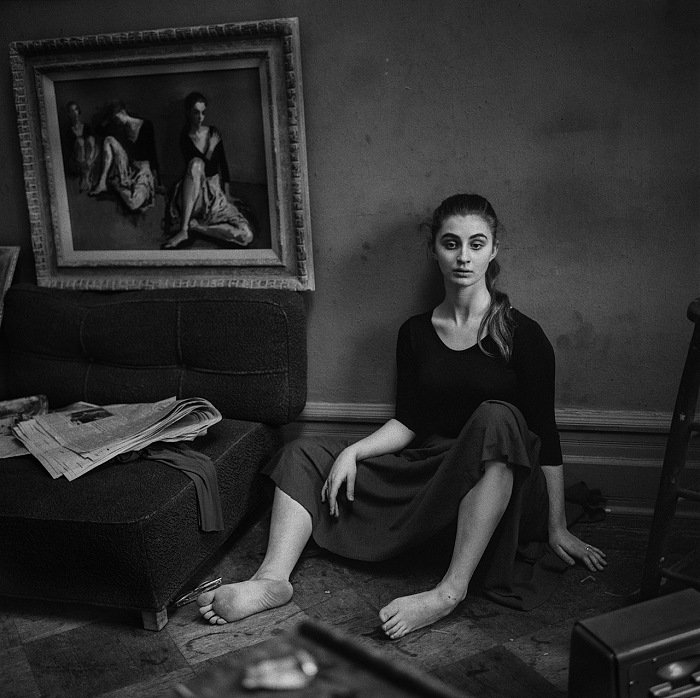 Larry Fink, Moses Soyer. © Larry Fink