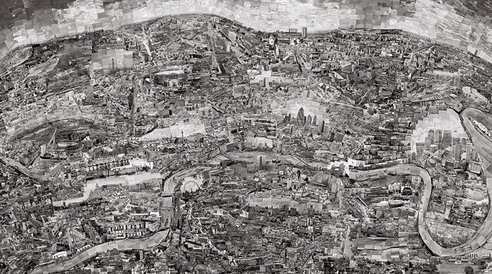 Sohei Nishino, Diorama Map London, 2010. From the series: Diorama Map, 2010–16. © Sohei Nishino, Prix Pictet 2017