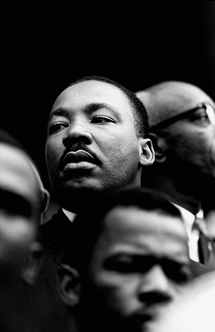 Steve Schapiro, Martin Luther King, Selma, 1965. © Steve Schapiro. Courtesy Monroe Gallery of Photography