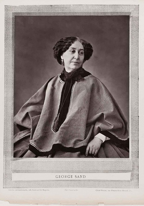 "Gaspard-Félix Tournachon Nadar, George Sand, 1864. Carbon print on printed sheet ""Galerie Contemporaine"" 24x19,6 cm. Courtesy FOTOGRAFIS Collection of Bank Austria – Member of UniCredit on permanent loan to Museum der Moderne Salzburg"