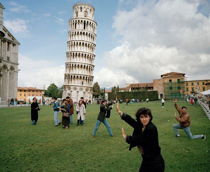 Martin Parr, The Leaning Tower of Pisa, Pisa, Italy. From Small World, 1990. © Martin Parr/Magnum Photos