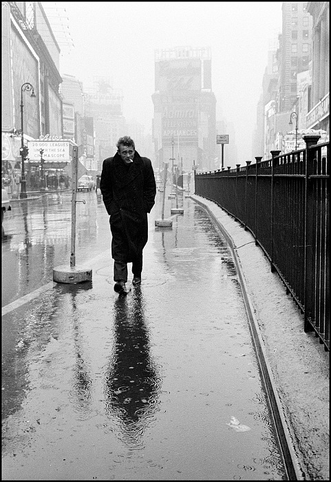 Dennis Stock, James Dean haunted Times Square, New York City, USA, 1955. © Dennis Stock/Magnum Photos