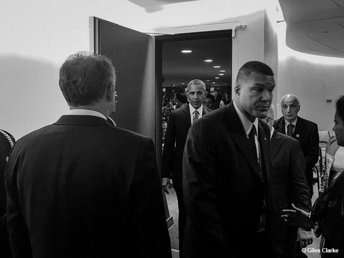 Giles Clarke (USA), President Obama at the United Nation HQ. © Giles Clarke