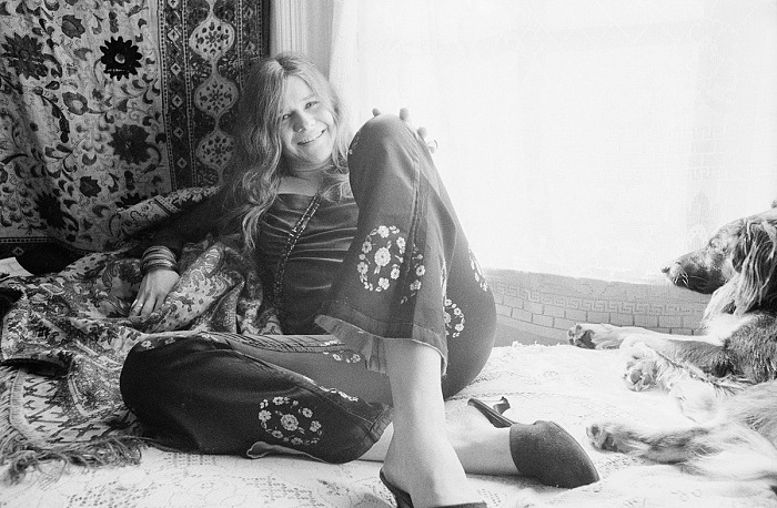 Baron Wolman, American singer and songwriter Janis Joplin (1943-1970) at her home in Haight-Ashbury, San Francisco, November 1967. © Baron Wolman