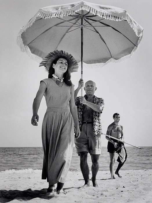 Robert Capa, Pablo Picasso and Françoise Gilot, Golfe-Juan, France, August 1948. © Robert Capa International Center of Photography/Magnum Photos