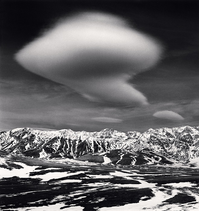 Michael Kenna, Curious Cloud, Campo Imperatore, Abruzzo, Italy, 2016. © Michael Kenna