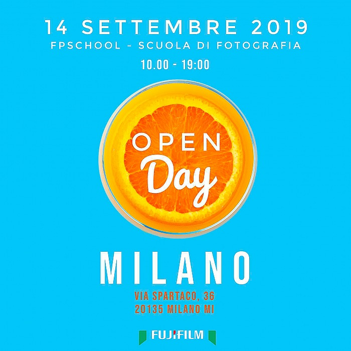 FPschool Open Day 2019, 14 settembre 2019, ore 10,00 – 14,00. IN collaborazione con Fujifilm Italia e Ye We Scan.