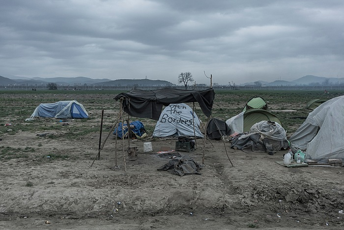 From the exhibition Idomeni, (un)settled territory by Orestes Seferoglou. © Orestes Seferoglou
