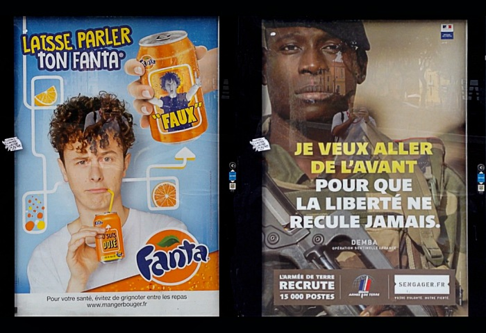 Advertisement Fanta and Opération Sentinelle. Perpignan, september, 4th 2016. © FPmag.