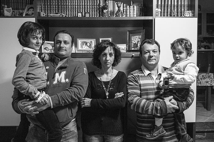 Pietro Basoccu, Alice, Giovanni, Monica, Walter, Emanuele dal volume Rosa Rosae. Affetti contemporanei, Soter Editrice. © Pietro Basoccu.