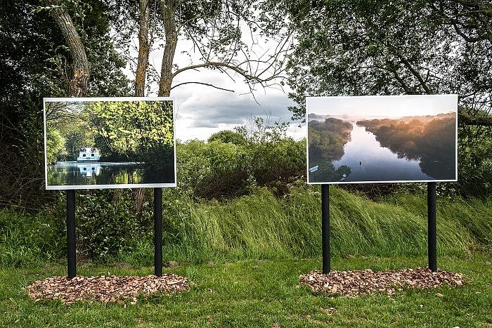 Un particolare dell'allestimento della mostra Glénac, le réveil des marais di Emmanuel Berthier. © Stefania Biamonti/FPmag.
