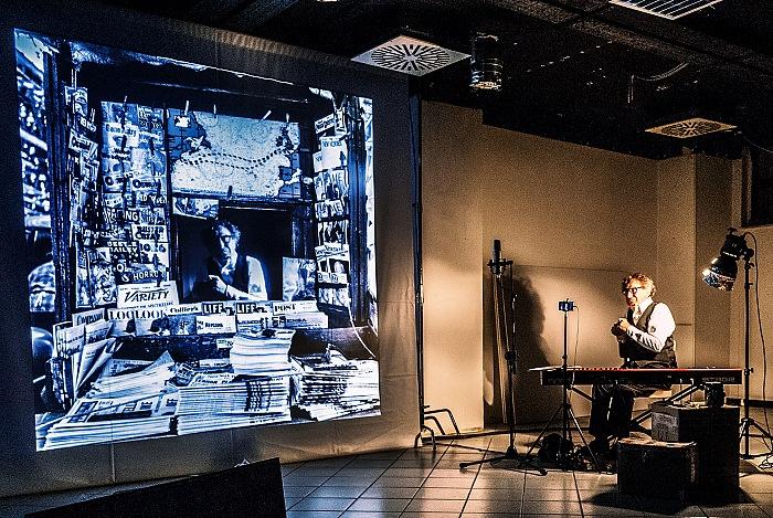 Roberto Carlone durante in Gli occhi di Vivian Maier ad Arezzo nell'ambito di Arezzo&Fotografia. © Stefania Biamonti/FPmag.