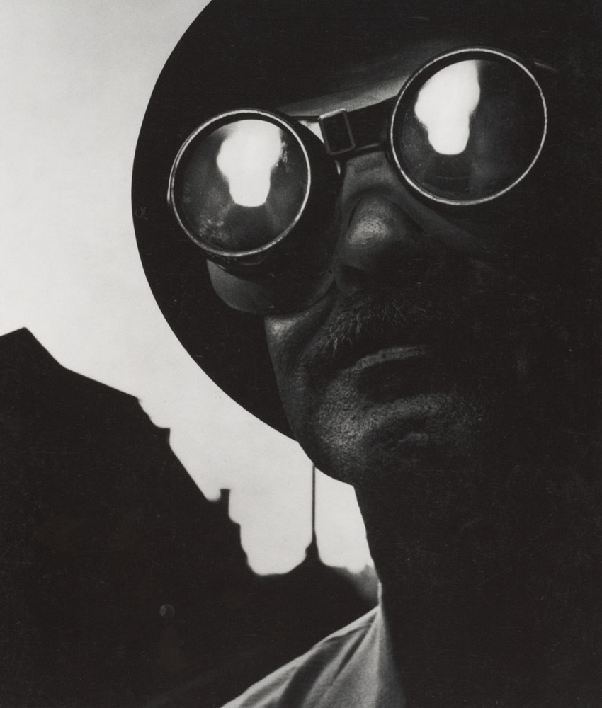 W. Eugene Smith, Steelworker with Goggles, Pittsburgh, 1955. © The Heirs of W. Eugene Smith.