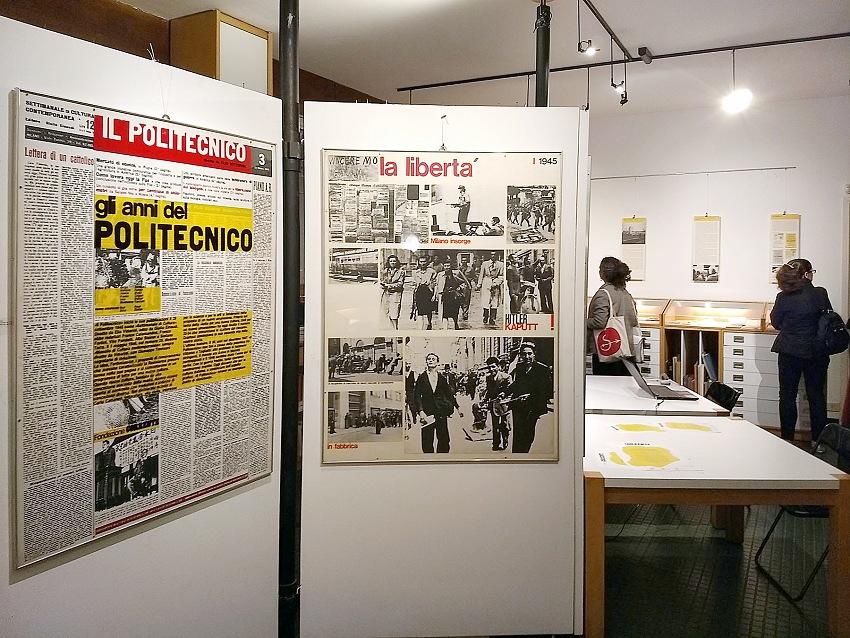 Un momento della visita alla mostra 1978-2018. Quaranta anni di cultura a Milano negli archivi della Fondazione. © Pio Tarantini.