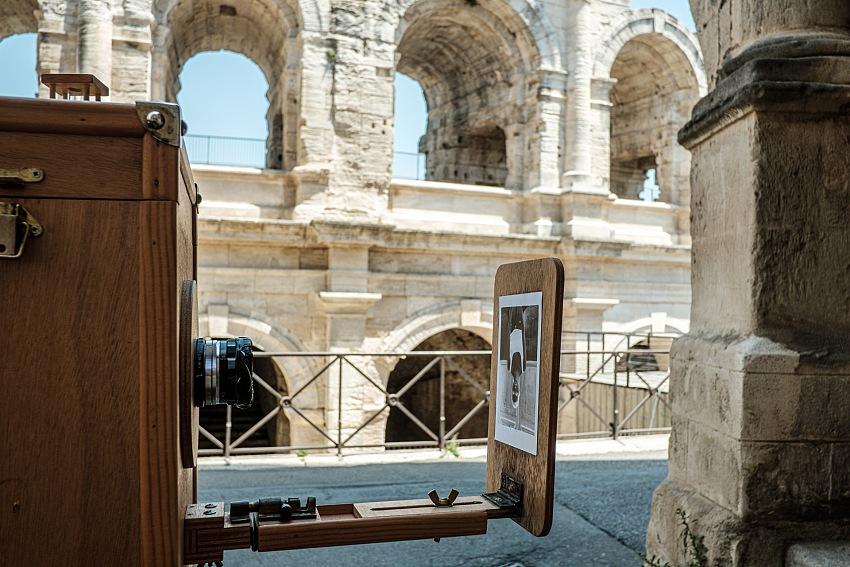 La Minutera in azione nei pressi dell'Arena di Arles. © Salvo Veneziano/Palermofoto.