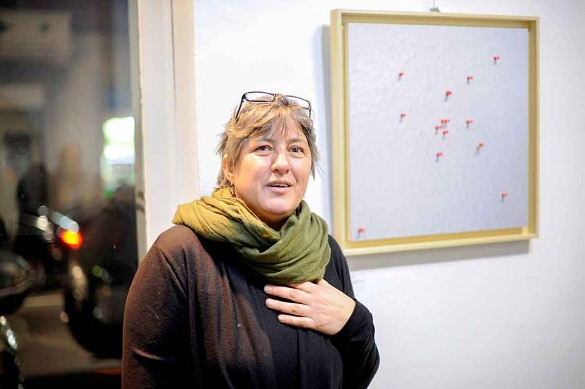 L'artista Bruna Ginammi. © Margherita Del Piano.