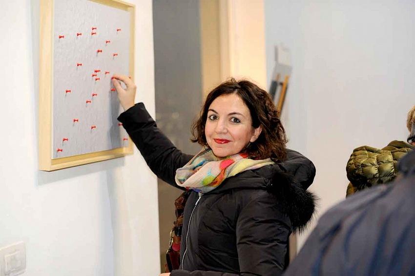 La visitatrice Alessia Peragine. © Margherita Del Piano.