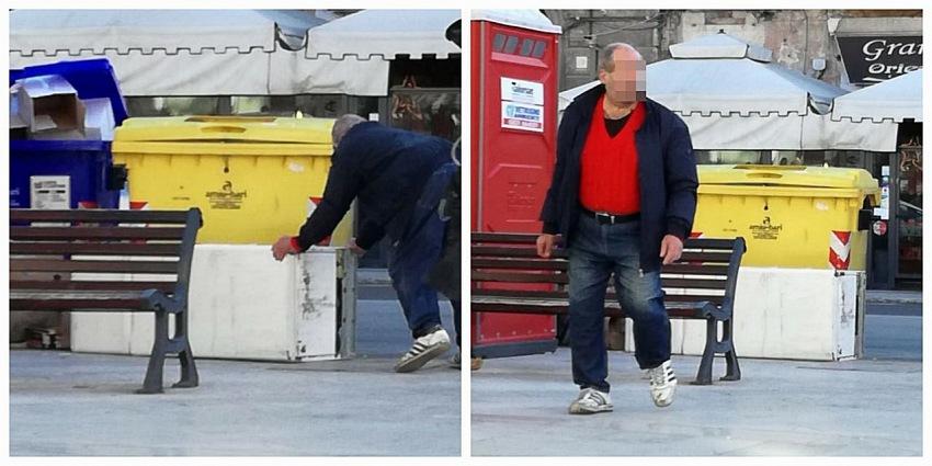 Le due fotografie pubblicate dal Sindaco di Bari Antonio Decaro sulla sua pagina Facebook.